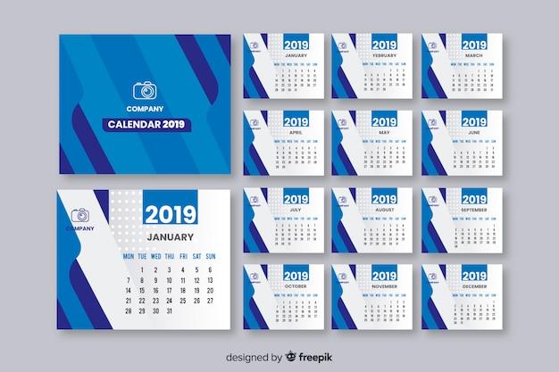 2019年カレンダー 無料ベクター