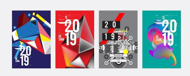 2019ポスターデザインテンプレート Premiumベクター