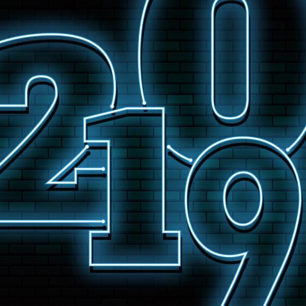 明けましておめでとう2019 Premiumベクター