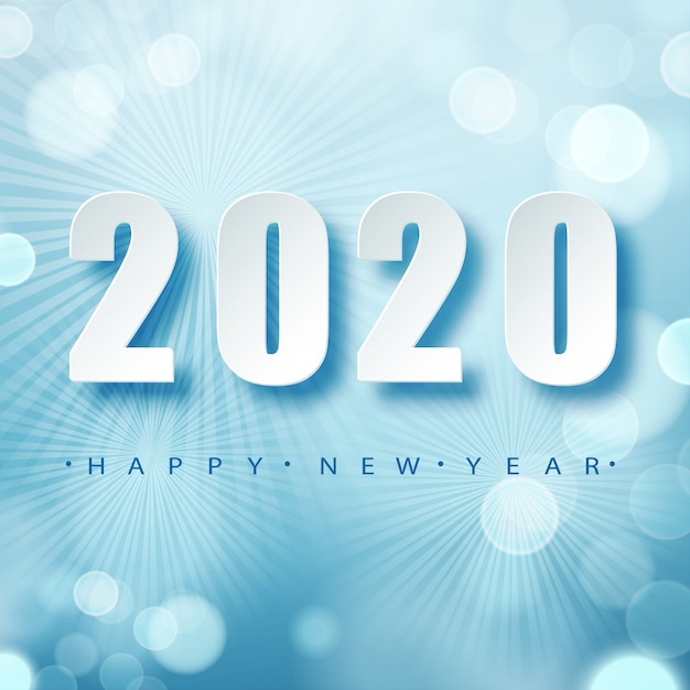 2020 blue christmas typography . winter season background with falling snow. christmas and new year poster template.holiday greetings.   . Premium Vector