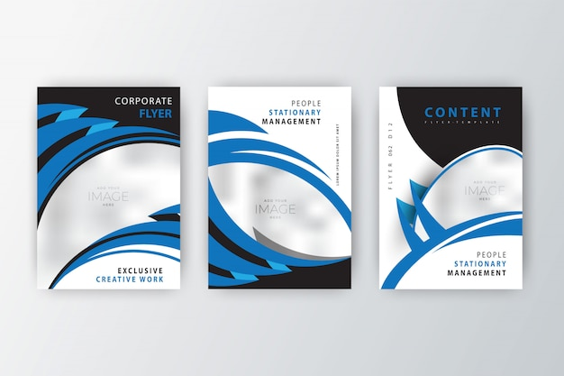 2020 company flyer collection Free Vector