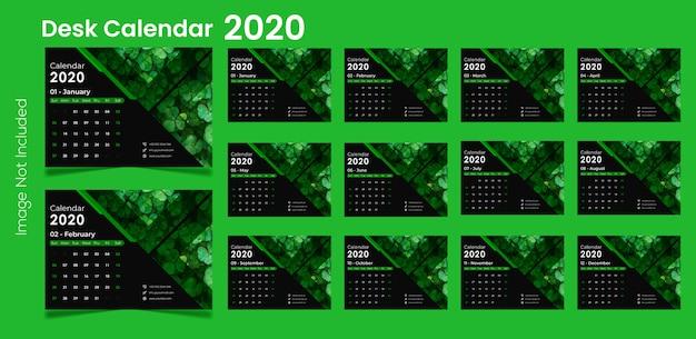 2020 desk calendar Premium Vector