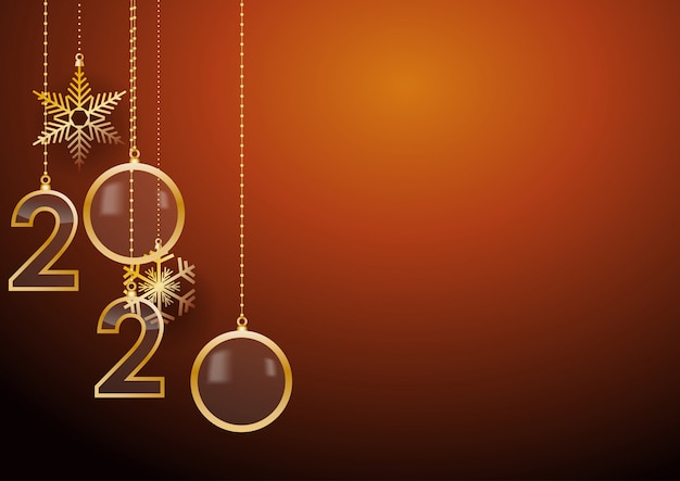 2020 happy new year greeting card with holiday greetings ...