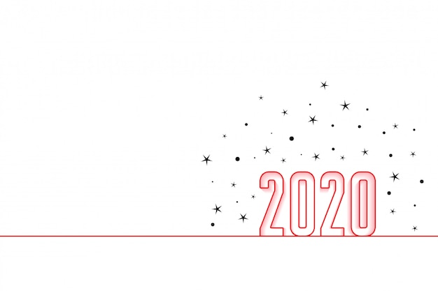2020 happy new year minimal style background Free Vector