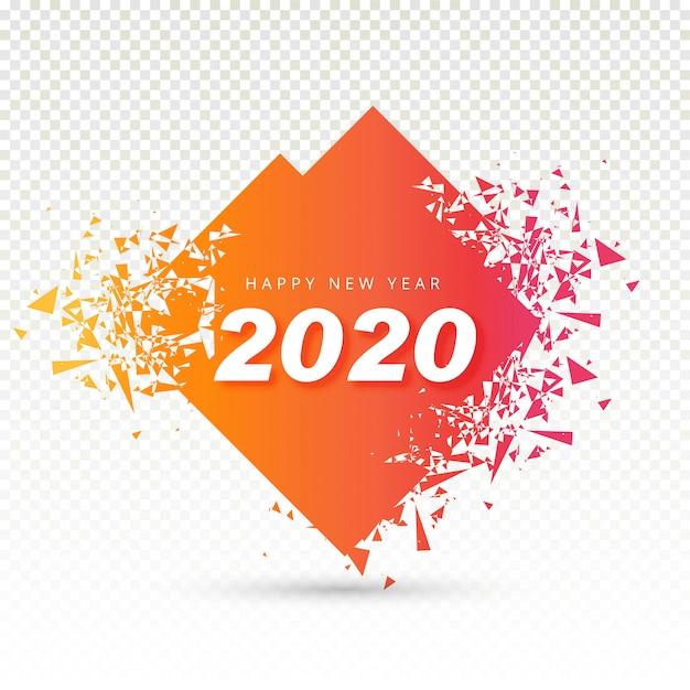 2020 happy new year текст для поздравительной открытки Бесплатные векторы