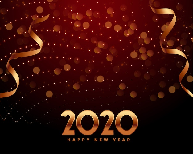 Шаблон приглашения приветствие празднования нового года 2020 Бесплатные векторы