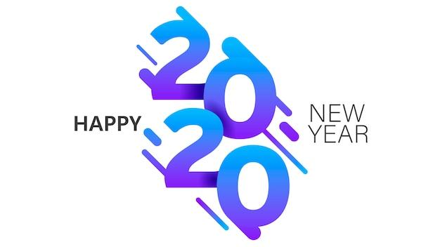 2020年新年instaスタイルバナーテンプレートミニマリストクリスマスはがきレイアウト Premiumベクター