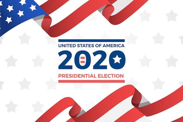 Президентские выборы 2020 года в сша обои Бесплатные векторы