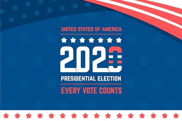 2020 presidential election in usa background Free Vector