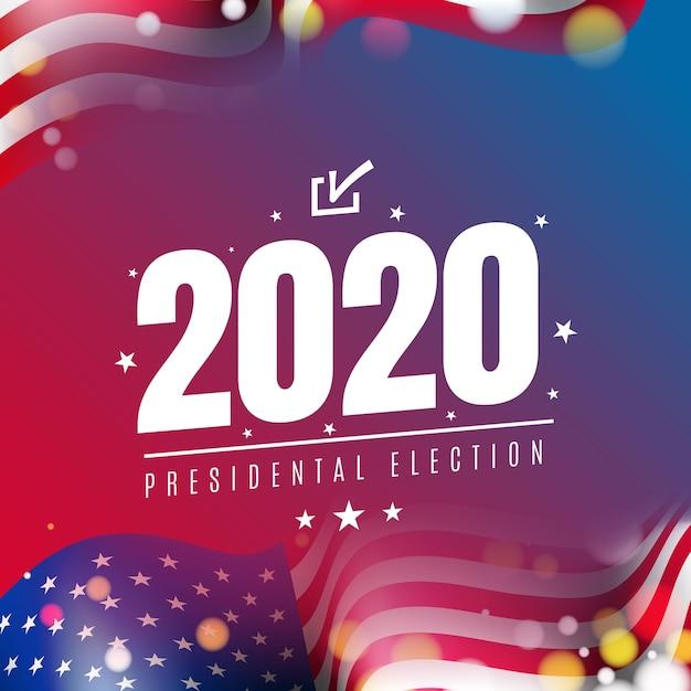 2020年アメリカ合衆国大統領選挙 無料ベクター