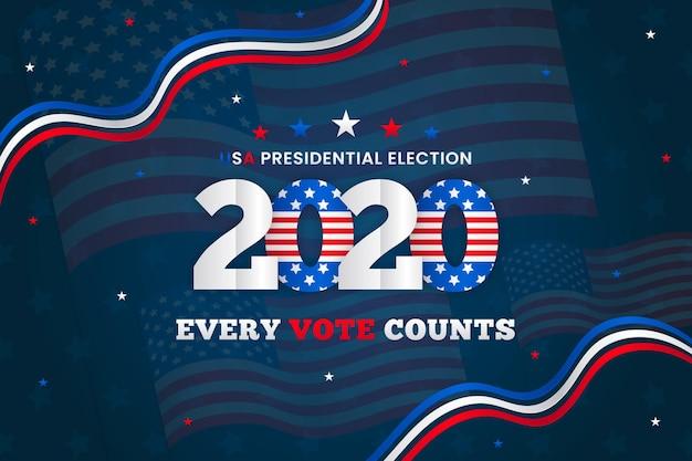 2020年米国大統領選挙の背景コンセプト 無料ベクター