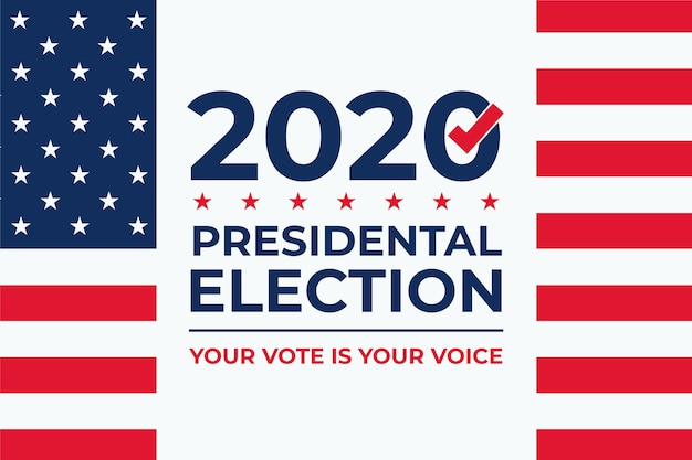 2020 us presidential election background Free Vector