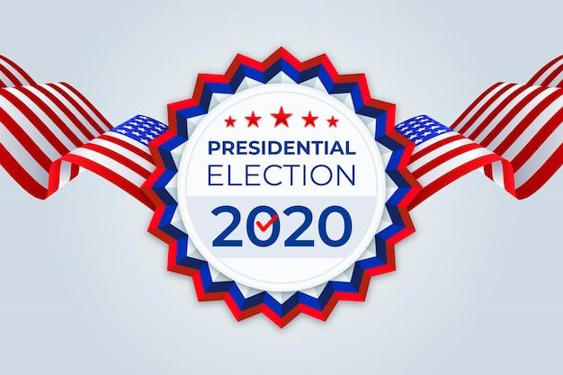 Президентские выборы в сша 2020 фон Бесплатные векторы