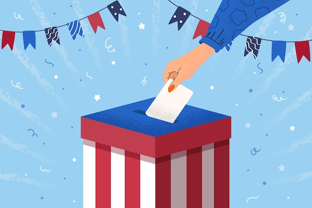 2020年米国大統領選挙の背景 無料ベクター