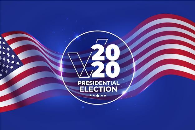 Sfondo delle elezioni presidenziali americane del 2020 Vettore gratuito