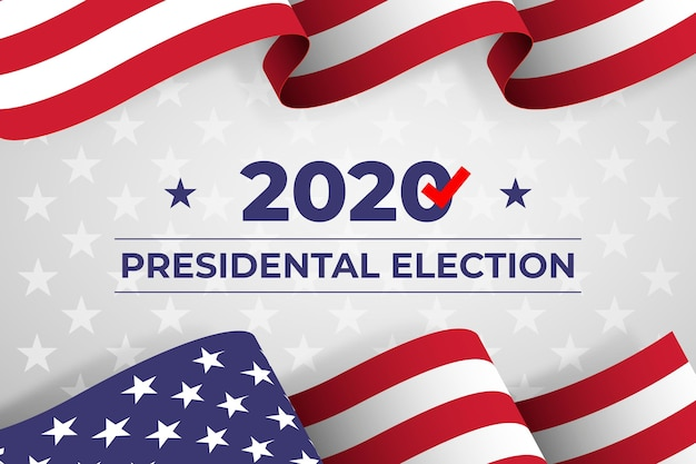 2020 us presidential election - background Free Vector