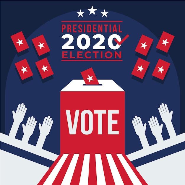 2020年米国大統領選挙のコンセプト Premiumベクター