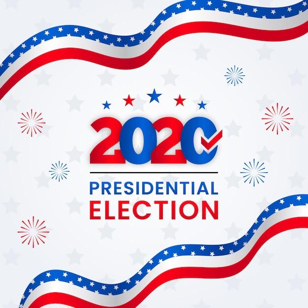 Концепция президентских выборов в сша 2020 Premium векторы