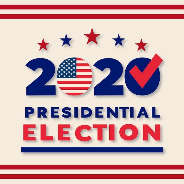 2020年米国大統領選挙のコンセプト 無料ベクター