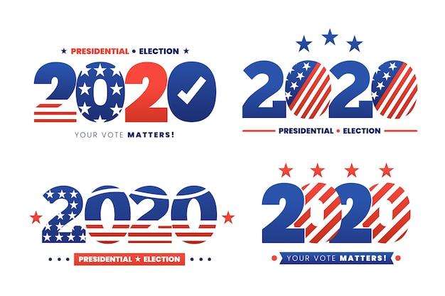 2020年米国大統領選挙のロゴ集 無料ベクター