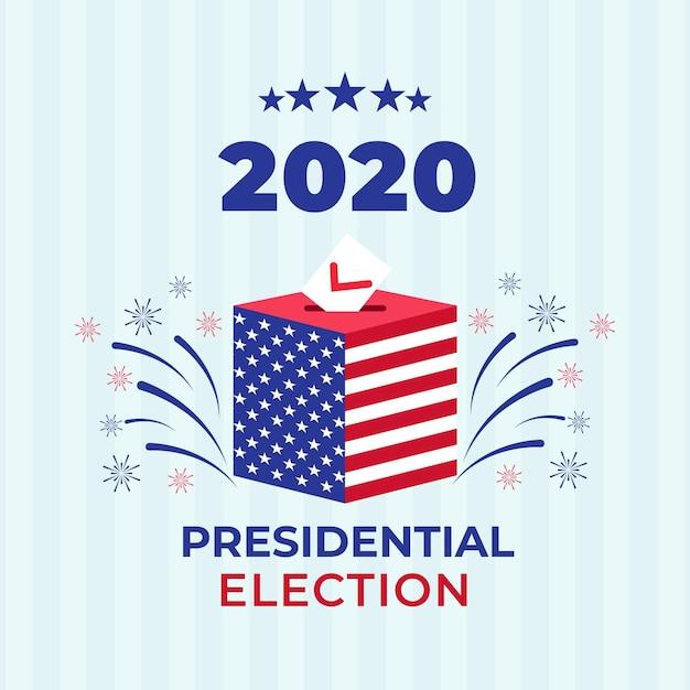 Testo delle elezioni presidenziali americane del 2020 Vettore gratuito