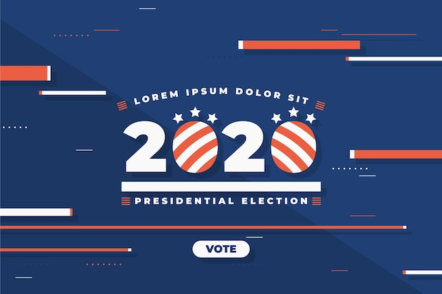2020年米国大統領選挙 無料ベクター