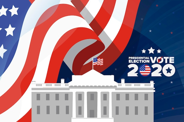 2020 usa presidential elections background Premium Vector