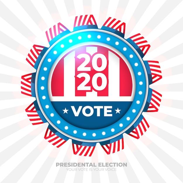 大統領選挙のための2020年の投票バナー 無料ベクター