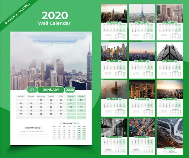 kalender dinding 2021 hijau