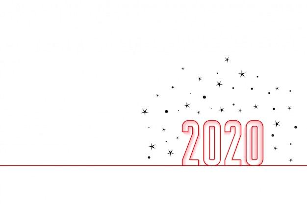 2020新年あけましておめでとうございますミニマルスタイルの背景 無料ベクター