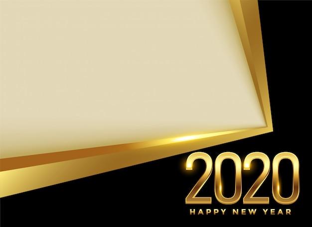 С новым годом 2020 золотая красавица Бесплатные векторы