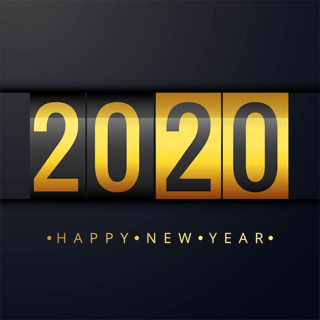 明けましておめでとうございます2020年の美しいカード 無料ベクター