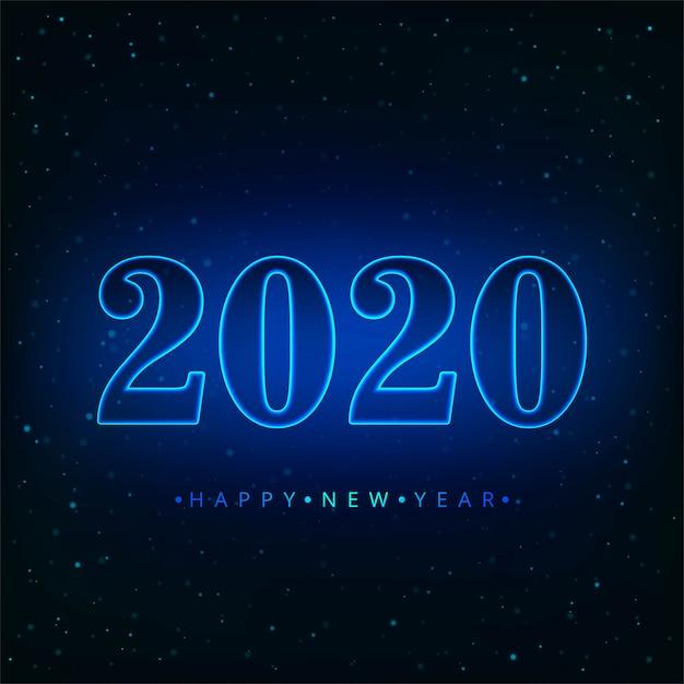 2020年テキスト新年あけましておめでとうございます休日ベクトルカード 無料ベクター