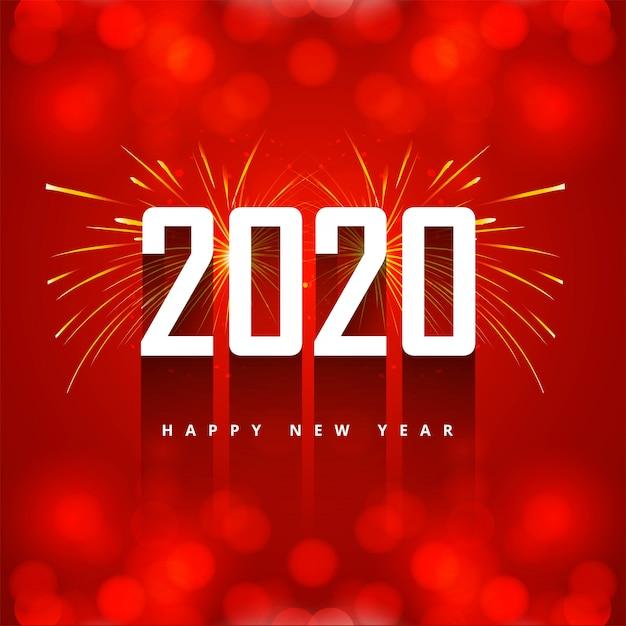Новогоднее творческое 2020 текстовая открытка Бесплатные векторы