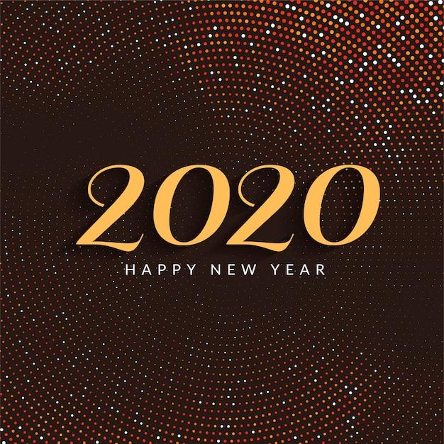 現代の幸せな新年2020カラフルなカード 無料ベクター