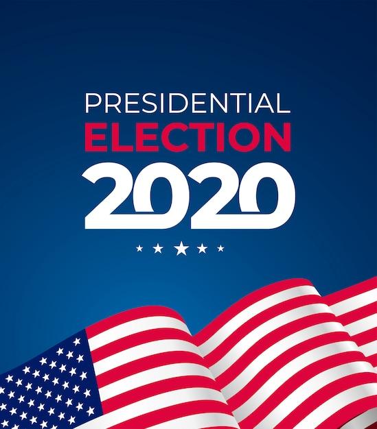 Президентские выборы в соединенных штатах америки 2020 года Premium векторы
