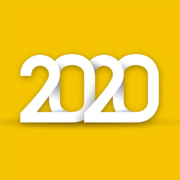 明けましておめでとう2020 Premiumベクター