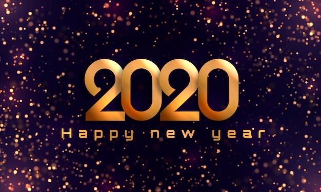 С новым годом 2020 Premium векторы