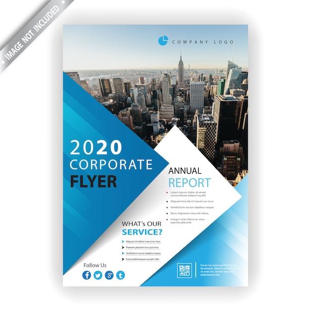 Корпоративный флаер 2020 Бесплатные векторы