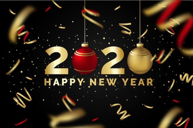 新年あけましておめでとうございます2020黒と金のグリーティングカード Premiumベクター