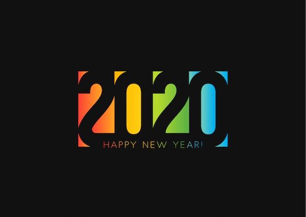 新年あけましておめでとうございます2020背景 Premiumベクター