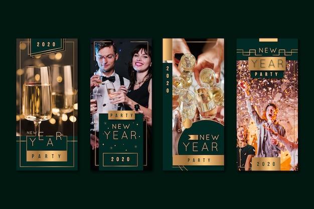 Сборник рассказов о вечеринке в честь нового года в 2020 году Бесплатные векторы