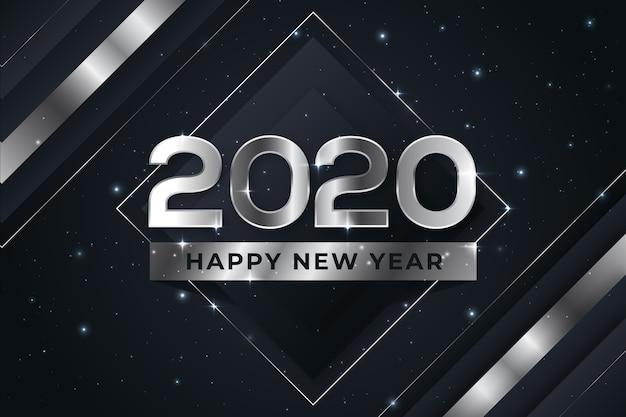 シルバー新年2020 無料ベクター