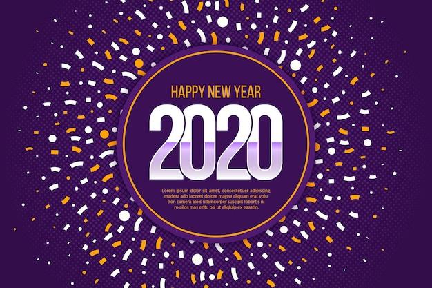 Конфетти новый год 2020 фон Бесплатные векторы