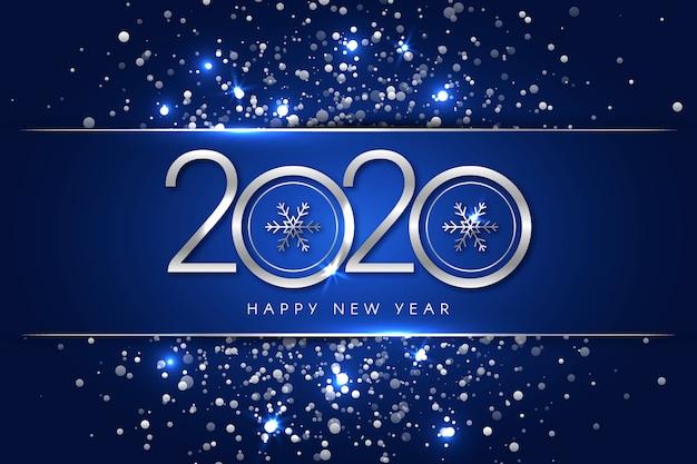 Серебряный новый год 2020 фон концепция Бесплатные векторы