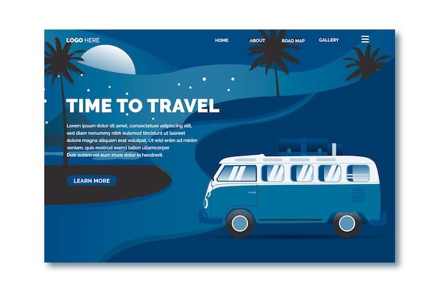 Цвет шаблона посадочной страницы путешествия 2020 года Бесплатные векторы
