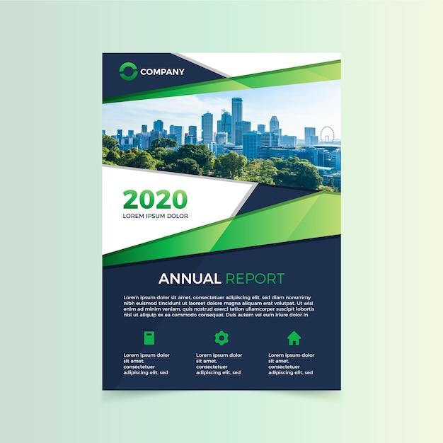 Шаблон годового отчета 2020 Бесплатные векторы