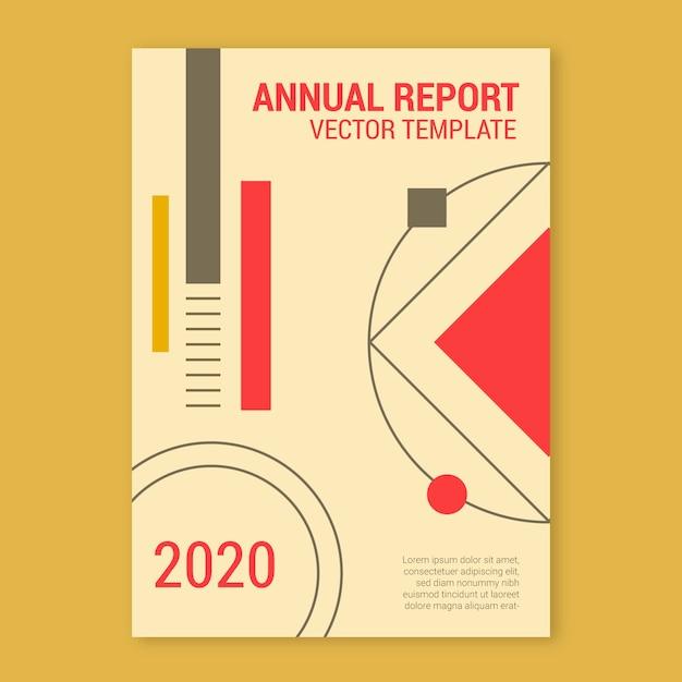 Шаблон годового отчета за 2020 год Бесплатные векторы