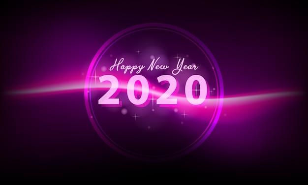 2020 новый год Premium векторы