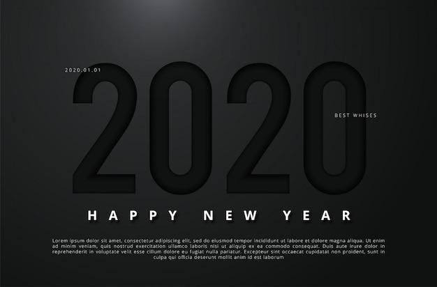 新年あけましておめでとうございます2020のベクトルイラスト Premiumベクター